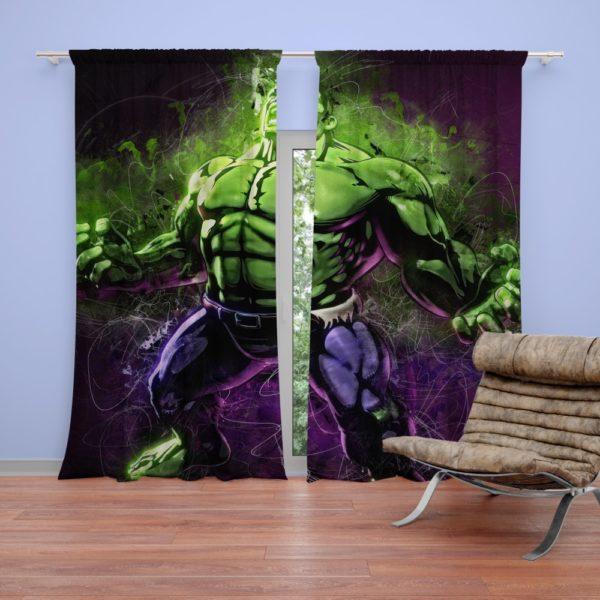Marvel Comic Incredible Hulk Artwork Curtain