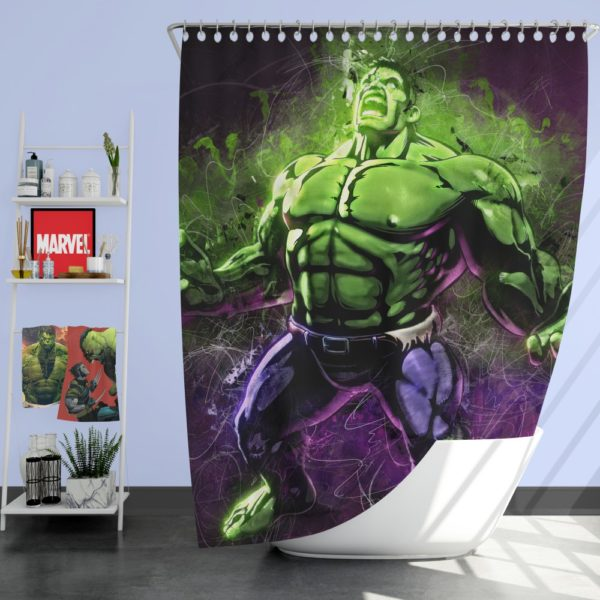 Marvel Comic Incredible Hulk Artwork Shower Curtain