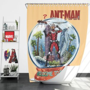 Marvel Comics Ant-Man In Snow Globe Shower Curtains
