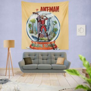 Marvel Comics Ant-Man In Snow Globe Wall Hanging Tapestrys
