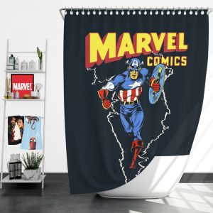 Marvel Comics Captain America Project Rebirth Shower Curtain