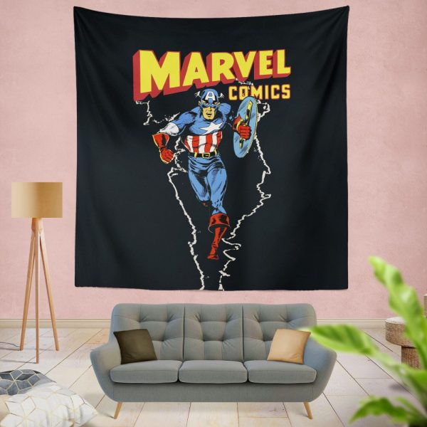 Marvel Comics Captain America Project Rebirth Wall Hanging Tapestry