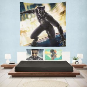 Marvel Comics Superhero Black Panther Print Wall Hanging Tapestry