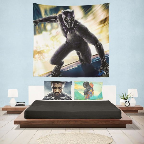 Marvel Comics Superhero Black Panther Print Wall Hanging Tapestry