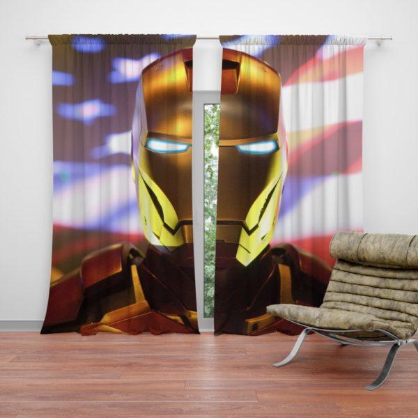 Marvel Universe Iron Man American Superhero Curtain
