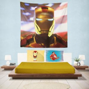 Marvel Universe Iron Man American Superhero Wall Hanging Tapestry