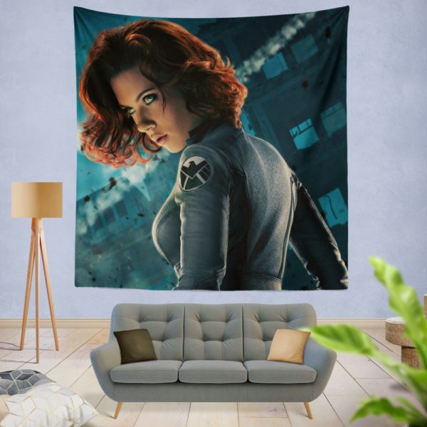 Natasha Romanova Black Widow The Avenger Wall Hanging Tapestry