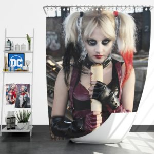 Suicide Squad Harley Quinn Cosplay Shower Curtain