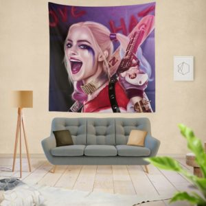 Suicide Squad Harley Quinn Margot Robbie Artistic Wall Hanging Tapestry