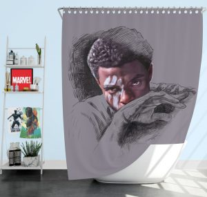 T'Challa Black Panther Minimal Artwork Print Shower Curtain