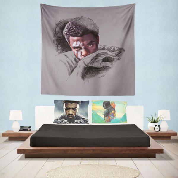 T'Challa Black Panther Minimal Artwork Print Wall Hanging Tapestry