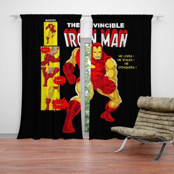 The Invincible Iron Man Marvel Comic Curtain