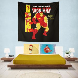 The Invincible Iron Man Marvel Comic Wall Hanging Tapestry