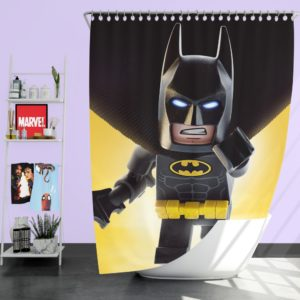 The Lego Batman DC Universe Movie Shower Curtain