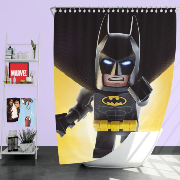 The Lego Batman DC Universe Movie Shower Curtain