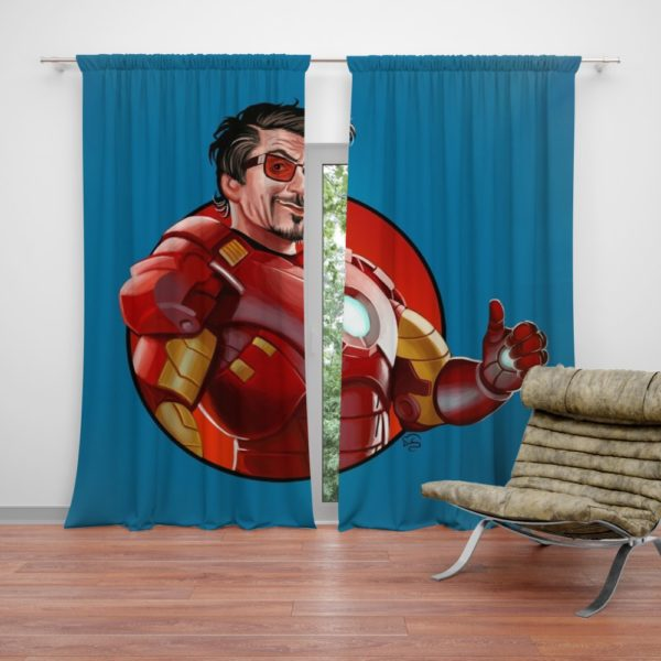 Tony Stark Iron Man Curtain