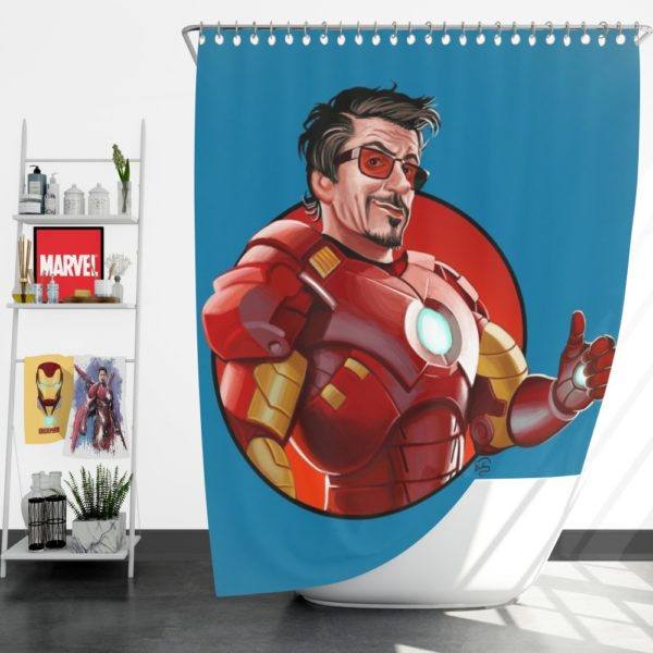 Tony Stark Iron Man Shower Curtain