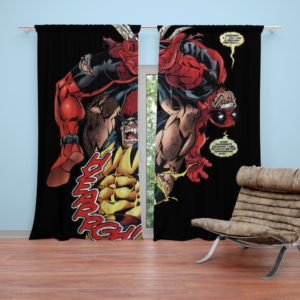 Wolverine vs Deadpool X-Men Origins Wolverine Curtain