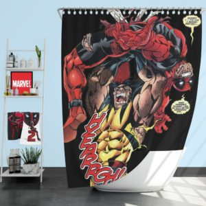 Wolverine vs Deadpool X-Men Origins Wolverine Shower Curtain