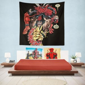 Wolverine vs Deadpool X-Men Origins Wolverine Wall Hanging Tapestry