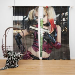 Women Cosplay Harley Quinn Curtain