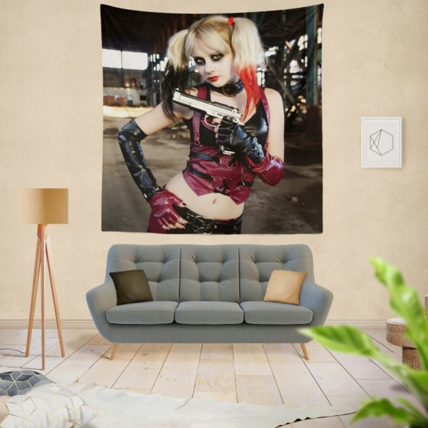 Women Cosplay Harley Quinn Wall Hanging Tapestry