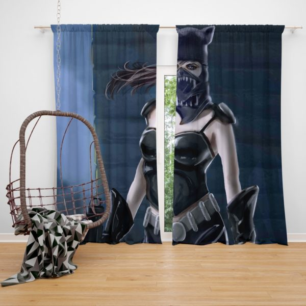 Catwoman Animated Design Curtain