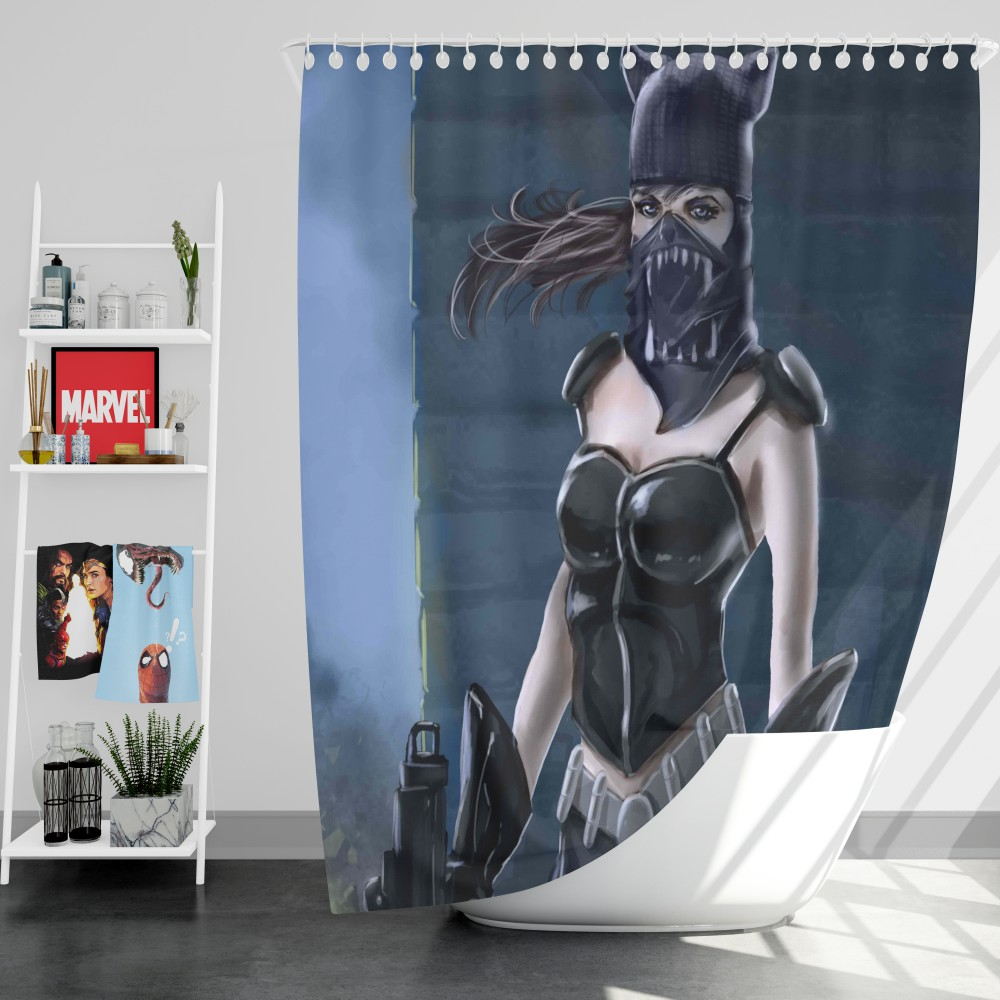 Catwoman Animated Design Shower Curtain