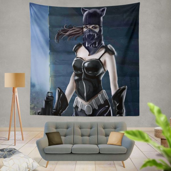 Catwoman Animated Design Wall Hanging Tapestry