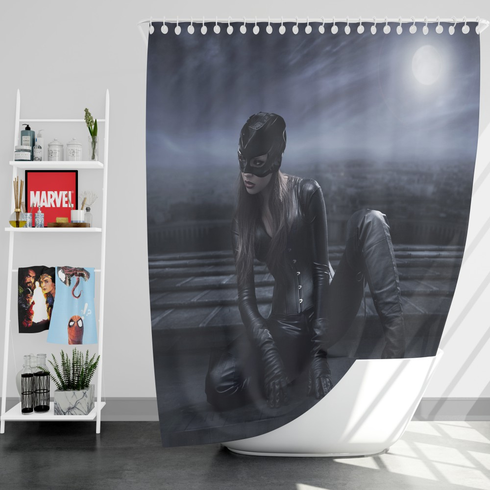 Catwoman DC Super Heroine Shower Curtain
