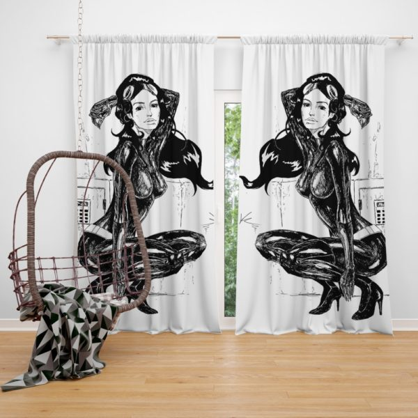 Catwoman Fictional Comics Character Curtain