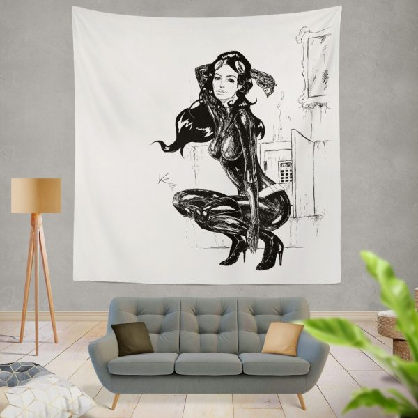 Catwoman Fictional Comics Character Wall Hanging Tapestry
