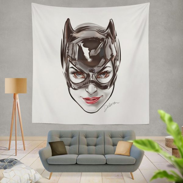 Catwoman Gotham Arkham City Wall Hanging Tapestry