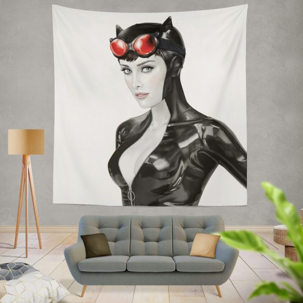 Catwoman Knight Model Arkham Legend Wall Hanging Tapestry