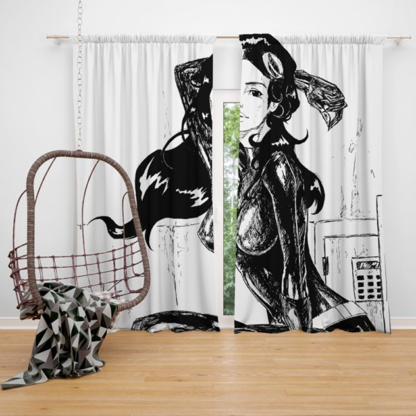 DC Dark Knight Catwoman Black and White Curtain