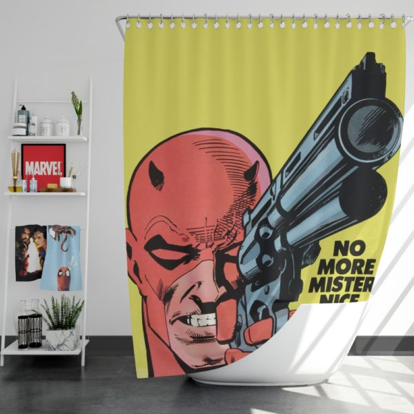 Daredevil Comics Super Hero Shower Curtain