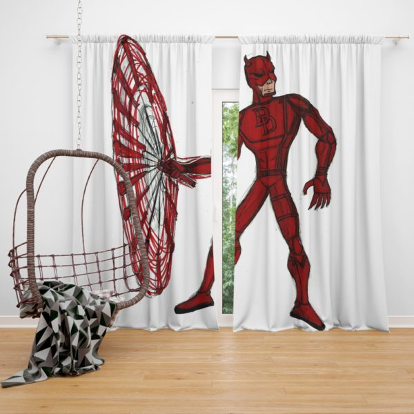 Daredevil Fan Art Curtain