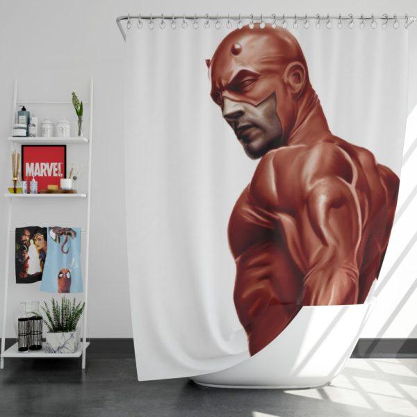 Matt Murdock Marvel Comics Daredevil Shower Curtain