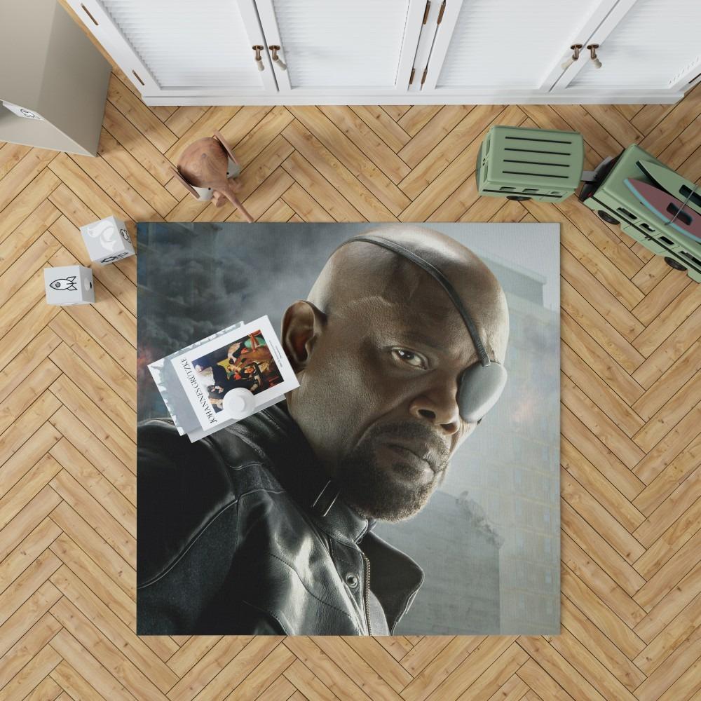 Avengers Age Of Ultron Samuel L Jackson Nick Fury Bedroom Living Room Floor Carpet Rug