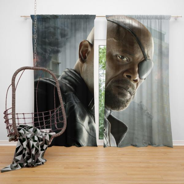 Avengers Age of Ultron Samuel L Jackson Nick Fury  Bedroom Window Curtain