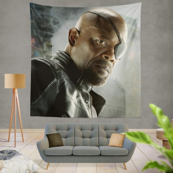 Avengers Age of Ultron Samuel L Jackson Nick Fury  Wall Hanging Tapestry