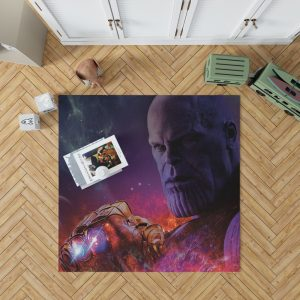 Avengers Infinity War Movie Thanos Infinity Gauntlet Bedroom Living Room Floor Carpet Rug