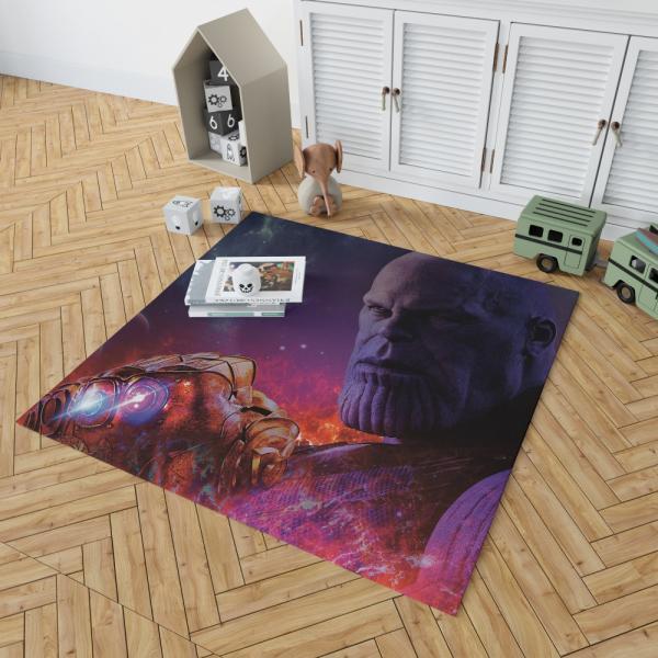 Avengers Infinity War Movie Thanos Infinity Gauntlet Bedroom Living Room Floor Carpet Rug