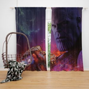 Avengers Infinity War Movie Thanos Infinity Gauntlet  Bedroom Window Curtain