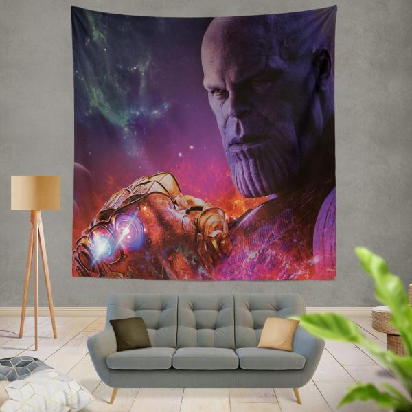 Avengers Infinity War Movie Thanos Infinity Gauntlet  Wall Hanging Tapestry