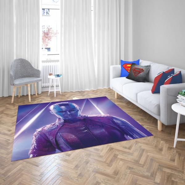 Avengers Infinity War Nebula Marvel Comics Karen Gillan Bedroom Living Room Floor Carpet Rug