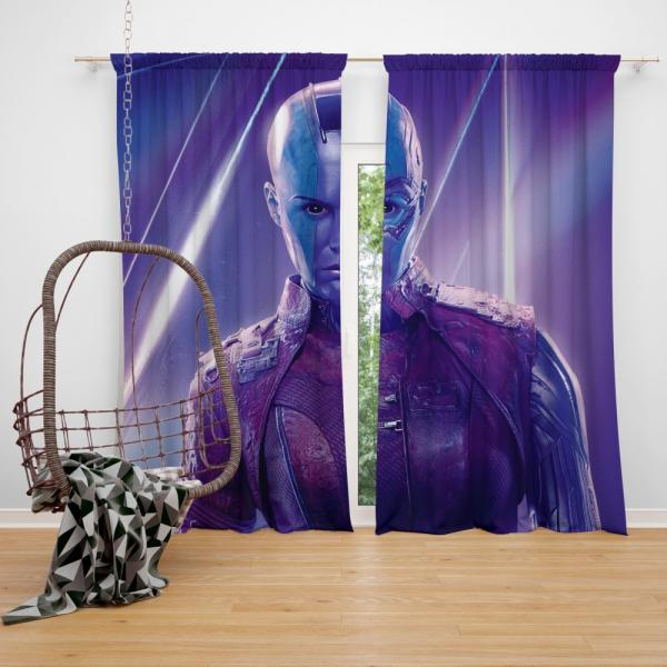 Avengers Infinity War Nebula Marvel Comics Karen Gillan Bedroom Window Curtain