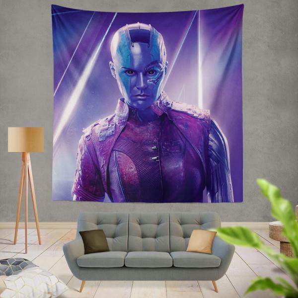 Avengers Infinity War Nebula Marvel Comics Karen Gillan Wall Hanging Tapestry