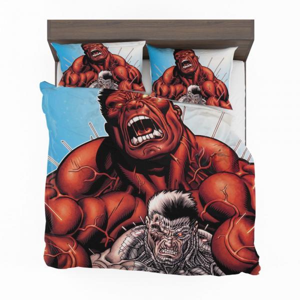 Avengers Red Hulk & Cable Marvel Comics Bedding Set