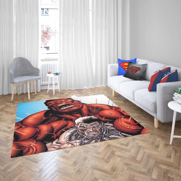 Avengers Red Hulk & Cable Marvel Comics Bedroom Living Room Floor Carpet Rug